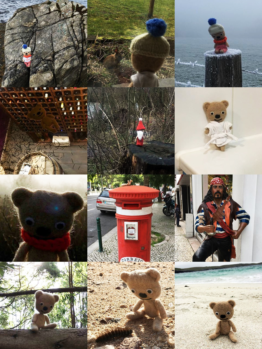 A photo montage of Ted on his travels in Scotland, Portugal, Northumberland, and beyond!